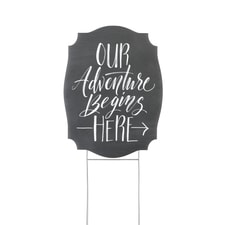 Our Adventure Begins - Yard Sign