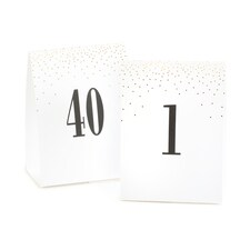 Gold Dots Table Number Tents