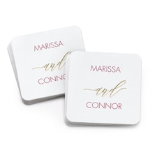 Burgundy Coaster - Personalized