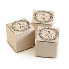 Rustic Wreath Favor Box - Blank