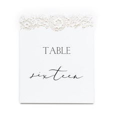 Floral Laser Cut Table Numbers