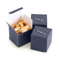 Navy Favor Box - Personalized