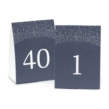Navy Table Number Tents