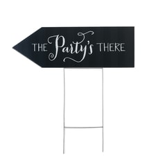 Party's There Yard Sign