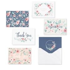 Blush Floral - Thank You Set