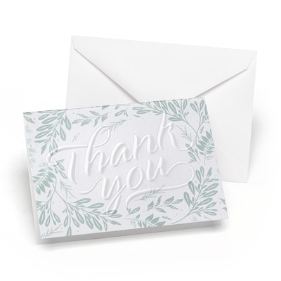 Greenery Embossed - Thank You
