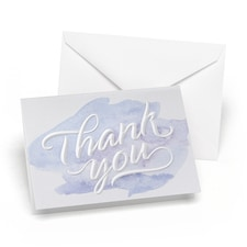 Watercolor Embossed - Thank You