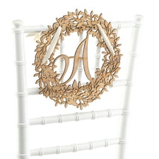 Wreath Initial - Wood Sign