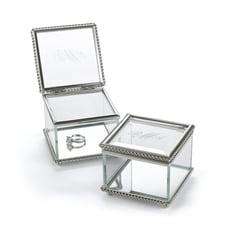 Custom Vintage Glass Ring Box
