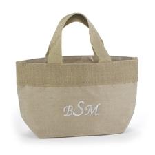 Custom Natural Jute Tote Bag - Small