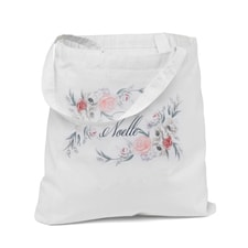 Custom Ethereal Floral Tote Bag