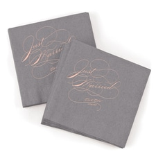 Just Married Napkin - Slate
