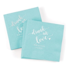 Drunk in Love Napkin - Aqua