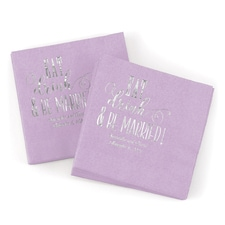 Eat, Drink, Be Married Napkin - Lavender