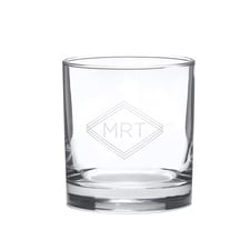 Diamond Monogram Rocks Glass