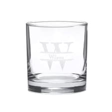 Initial Monogram Rocks Glass