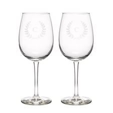 Leafy Crest Wine Glasses