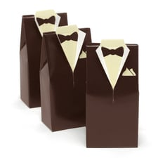 Tuxedo Favor Boxes - Brown