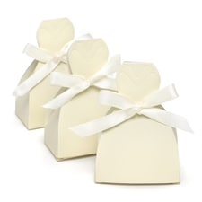 Ivory Gown Favor Boxes - Blank