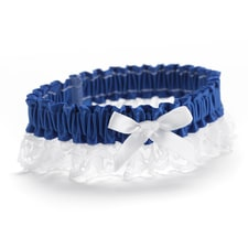 Ribbon and Lace - Garter - Royal Blue