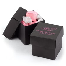 Two-piece Favor Box - Personalized - Black