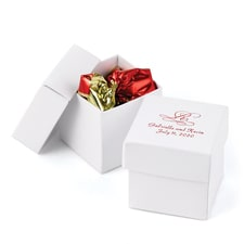 Two-piece Favor Box - Personalized - White Shimmer