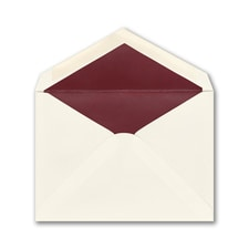 (A6) Envelope, Ecru/Berry, Blank