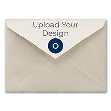 (A7) Envelope, Ecru Shimmer, Offset