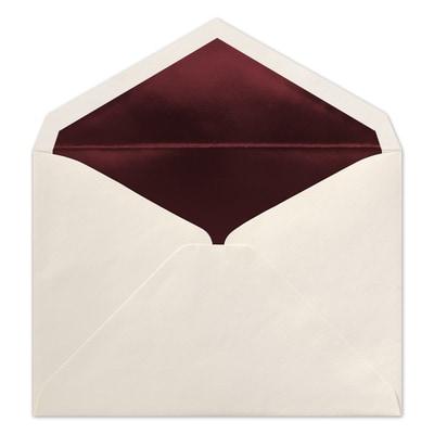 (R1) Inner Ungummed Envelope, Ecru/Berry, Blank