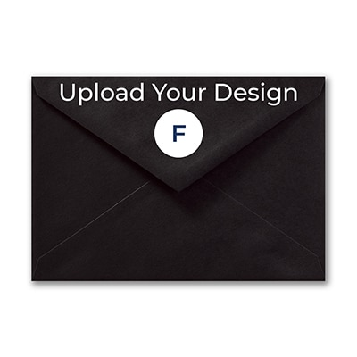 (R1) Outer Single Envelope, Black, Foil