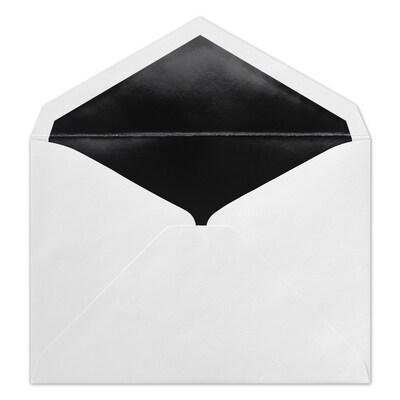 (R1) Ungummed Envelope, White/Black, Blank