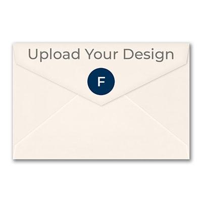 (A9) Outer Single Envelope, Ecru, Foil