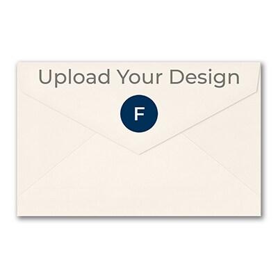 (A10) Outer Single Envelope, Ecru, Foil