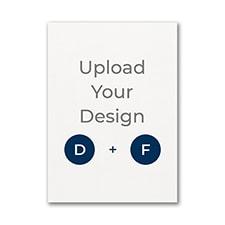3 1/2 x 4 7/8 (A1) Flat Card, Digital and Foil
