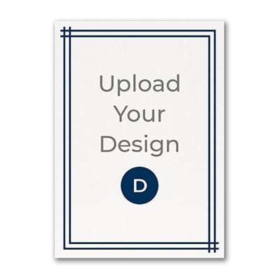 5 x 7 (A7) Flat Card, Digital with Foil Design