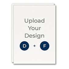5 x 7 (A7) Flat Card, Digital and Foil Double Thick