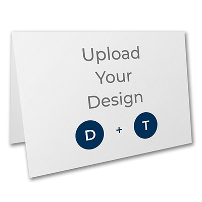 7 x 5 (A7) Top Fold Card, Digital and Thermography