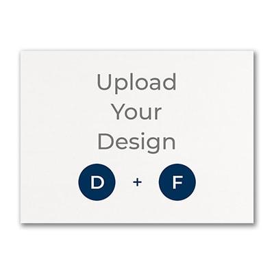 6 1/4 x 4 5/8 (A6) Flat Card, Digital and Foil