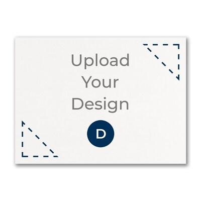 6 1/4 x 4 5/8 (A6) Flat Card, Digital with Laser Cut Design