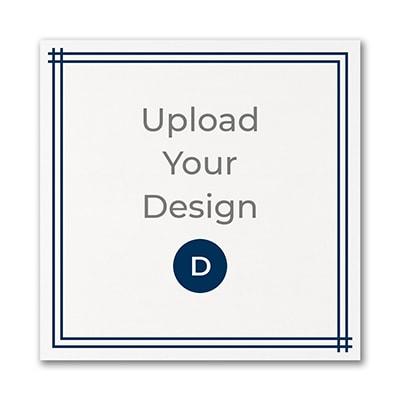 5 1/2 x 5 1/2 (S1) Flat Card, Digital with Foil Design