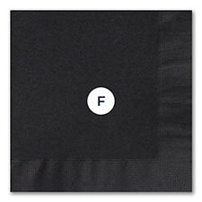 Luncheon Napkin, Black, Foil