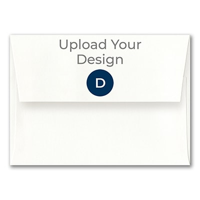 (A7) Square Flap Envelope, Superfine White, Digital