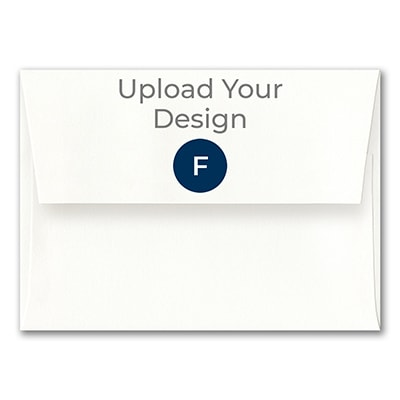 (A7) Square Flap Envelope, Superfine White, Foil