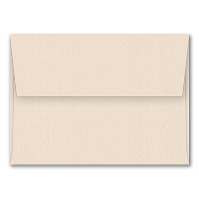 (A7) Square Flap Envelope, Biscuit, Blank