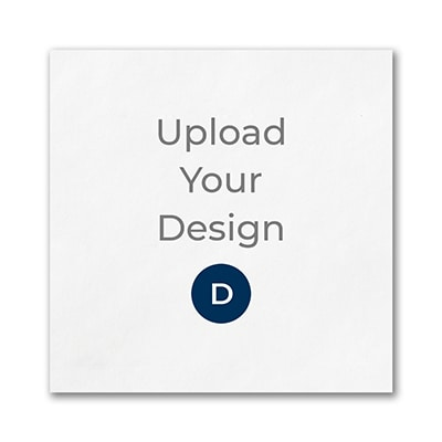Beverage Uncoined Napkin, White, Digital