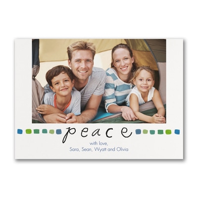 Peace Holiday - Photo Card