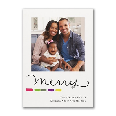 Merry Holiday - Photo Card
