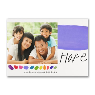 Hope Holiday - Photo Card