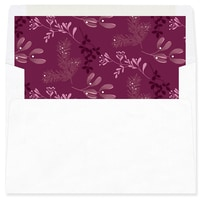 Joy Typography Burgundy Envelope Liner