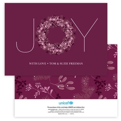 Joy Typography in Burgundy